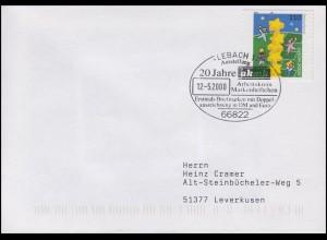2114 Europa, EF FDC ESSt Lebach 20 Jahre akmh Doppelte Währung DM & Euro 12.5.00