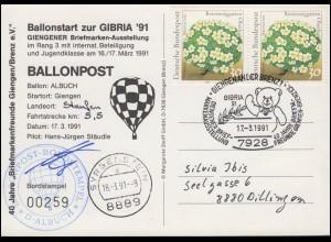 88 Vorolympia 4 Pf Drucksache Werbe-O Verkehrsausstellung München BERLIN 21.4.53