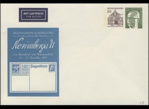 Umschlag 10+25 Pf Dresden+Heinemann Nürnberg **