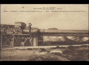 Belgien Militärsache DISON 5.2.1922 AK SOUVENIR OF THE WAR nach Bockum/Krefeld