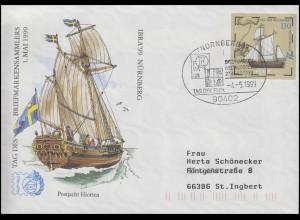 USo 8 IBRA & Postjacht Hiorten, SSt Nürnberg Tag der FEPA & IBRA-Logo 4.5.1999