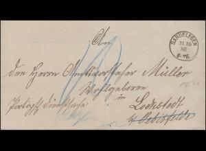 Portopflichtige Dienstsache Briefhülle Landrat GARDELEGEN 31.10.1888