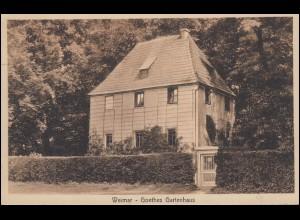Ansichtskarte Weimar - Goethes Gartenhaus, WEIMAR NATIONALVERSAMMLUNG 22.6.1919