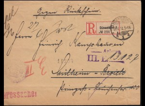 Heeressache Regierung zu Düsseldorf R-Brief 26.6.1918 nach MÜLHEIM (RUHR) 26.6.