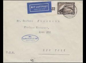 Zeppelin-Post Luftschiff LZ 127 Brief FRIEDRICHSHAFEN 10.10.28 nach New York
