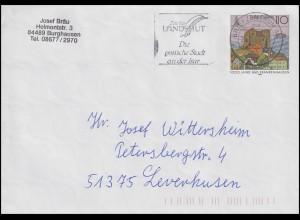 USo 1 Bad Frankenhausen, Werbestempel Landshut - Gotische Stadt BZ 84 - 27.11.98