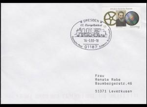 12. Dampflokfest, Brief SSt Dresden 16.5.2003
