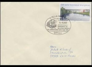 Dampflok & Denkmal Städteverbund Südthüringen, Brief SSt Zella-Mehlis 14.9.2003