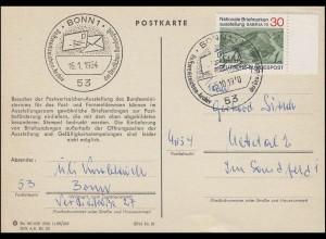 Postkarte Postwertzeichen-Ausstellung mit SABRIA'70 SSt Bonn 5.10.1970