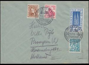 315+316 Händel+Spohr Zusammendruck Brief HAMBURG 33 - 2.3.60 nach Berkenthin