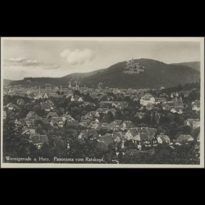 Hindenburg 6 PF EF Ansichtskarte Wernigerode/Harz Panorama, 22.8.34