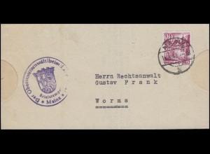 Rheinland-Pfalz 38 Winzerhäuser St. Martin EF Bf. Oberstaatsanwalt MAINZ 14.4.49