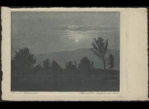 Ebert 6 PF EF Ansichtskarte/Gemälde Über allen Gipfeln ist ruh, Pforzheim 7.9.32