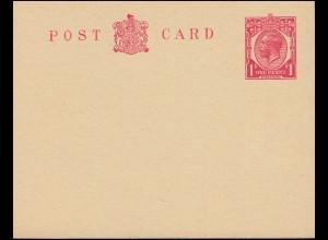 Großbritannien Postkarte P 48 Georg V. 1 Penny, karmin, ungebraucht **