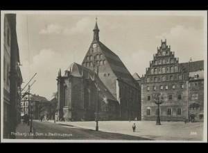 Ansichtskarte Freiberg/Sachsen: Dom und Stadtmuseum, Freiberg 15.5.33