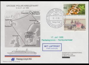 Deutsche Schiffspost MS Europa Große Polar-Kreuzfahrt 17.7.86 bis Packeisgrenze