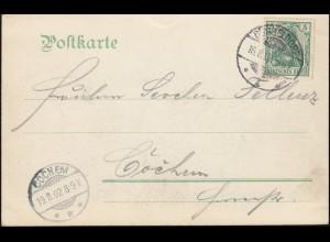 Postkarte 2. Niederrheinische Philatelistentagung und Ausstellung ESSEN 1947