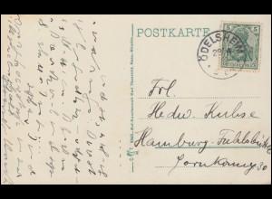 Schiffspost Indien Umschlag TWO ANNAS SIX PIES gelborange, DEHLI-ST 25.3.1897