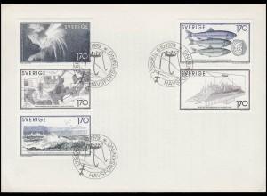 Schweden: Meeresforschung 1978, ZD aus MH 74 auf Blanko-FDC ESSt 6.10.79