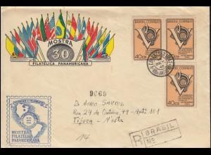 686 Postkongress MeF R-Bf. Ausstellung Panamerikana SSt RIO DE JENEIRO 16.9.1946