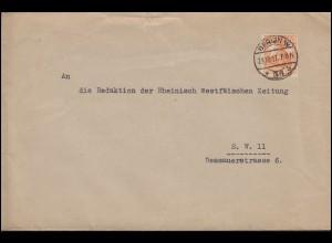 99 Germania EF auf Ortsbrief Reichsstelle für Gemüse & Obst BERLIN 29.10.1917