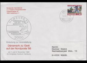 Dänemark 864 Parade Brief Nordposta KOPENHAGEN / KOBENHAVN 13.10.1986