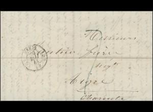 Frankreich Vorphilatelie Faltbrief Paris 29.5.41 nach Aigre 31.5.1841