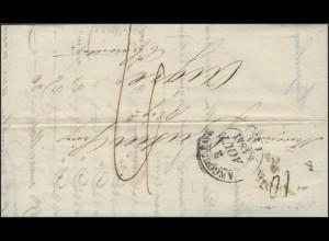 Frankreich Vorphilatelie Faltbrief Angoulême 2.8.1841 nach Aigre 4.8.1841