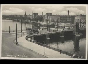 Ansichtskarte Amsterdam: Berlagebrug, Amsterdam 21.10.1918