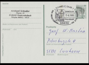 P 150 Berg- und Hüttenmann von Otto Häusser, SSt Schmelz SAMOLUX 17.6.1995