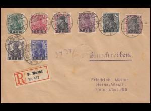 Zensur auf Infla-Brief als Einschreiben MiF BERLIN-STEGLITZ 22.5.23 nach CHICAGO