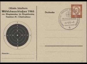 PP 31 Neumann 25 Pf Schießkarte Wälchesschießen 1965 SSt Frankfurt 8.6.65