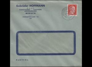 Luxemburg Hitler-EF 8 Pf Fensterbrief Parkettfabrik Sägewerk MERSCH 16.11.42