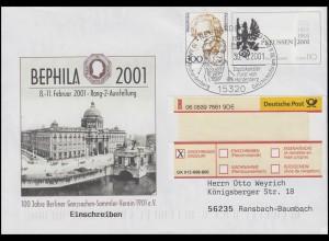 USo 23 BEPHILA 2001, R-Bf SSt Neuhardenberg 300 Jahre Preußen 30.6.2001