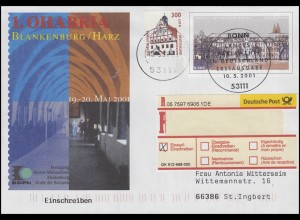 USo 27 OHABRIA Blankenburg/Harz, R-FDC ESSt Bonn Landesparlamente 10.5.2001
