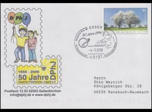 USo 117 Deutsche Philatelistische Jugend, FDC ESSt Essen 50 Jahre DPhJ 4.5.2006