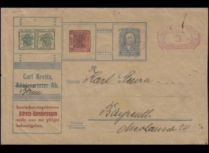 Absenderfreistempel Bonn 27.2.25 auf Drucksache Briefmarken-Kreitz nach Bayreuth