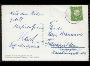 351 Nothilfe Rosenwunder MeF Brief Amtsvorstand Borsfleth bei KREMPE 2.3.1925
