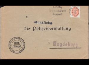 Dienstmarke 129 Strohhut auf Brief Ministerium des Innern BERLIN 3.5.1934