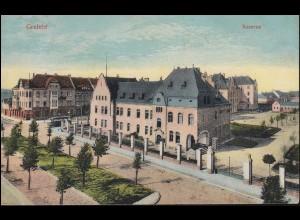 Ansichtskarte Crefeld Kaserne, als Feldpostkarte 15.1.1919 nach Brüssel