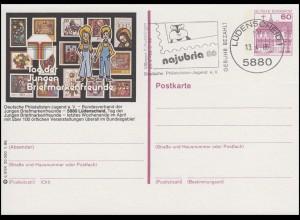P138-q3/034 Lüdenscheid, Briefmarkenfreunde, Lüdenscheid najubria 13.4.86