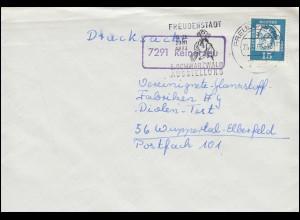 Landpost-Stempel Reinerzau Drucksache FREUDENSTADT 24.4.1963