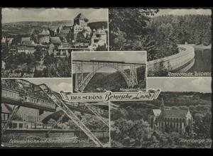 Ansichtskarte Das schöne Bergische Land: 5 Ansichten, Wermelskirchen 21.7.59