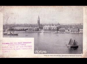 Erste intern. Ansichtskartengesellschaft: Venedig 1898