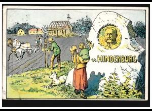 Kriegs-Wohlfahrtskarte Neues Dorf mit Hindenburg-Denkmal, BERLIN 1915