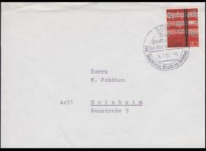 380 EF Brief aptierter SSt Süchteln - Ausflugsziel & Stadt im Grünen 24.7.62