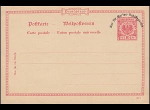 NUR FÜR MARINE-SCHIFFSPOSTEN Postkarte P 1, ungebraucht **