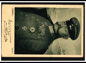 AK Hindenburg Wohlfahrtskarte Verein für Sanitätshunde, gelaufen 22.4.1915