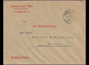Reichsdienstsache Auswärtiges Amt Außenhandelsstelle BERLIN 15.11.19 nach Gotha