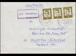 Landpost-Stempel 3431 Kammerbach Drucksache 347y 3er-Str. WITZENHAUSEN 19.4.1963